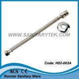 Long boyau flexible tressé d'acier inoxydable de noix (H02-003A)