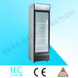 Коммерчески стеклянный холодильник индикации двери для фрукт и овощ