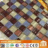 ガラスモザイク、青、ブラウン、黒いカラー、壁および床(G823042)