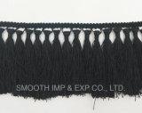 Краевое кружевом Tassel черного цвета кузова одежды Одежда Текстиль ткани для принадлежностей
