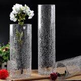 Opgeblazen Duidelijk knapperde de Vaas van de Cilinder van het Glas