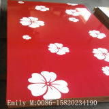 MDF UV moderno di Design Flower per Kitchen Cabinet Door