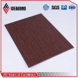 Ideabond нов начало выбитую панель серии касания деревянную алюминиевую составную
