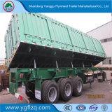 Koolstofstaal 3 de Op zwaar werk berekende Stortplaats van de As/de Semi Aanhangwagen van de Kipper voor Vervoer van de Mijn van het Mineraal/van het Ijzer/van de Steen/van het Zand