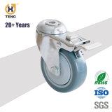 Total de 4 pouces de haute qualité Polurethane de frein de roue pivotante