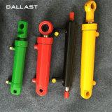 Cilindro ativo dobro do petróleo hidráulico da máquina escavadora do curso curto mini