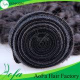 卸し売り加工されていないインドの織り方の毛のRemyの人間の毛髪のよこ糸