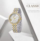 Het Polshorloge van de Vrouwen van het Ontwerp van de Wijzerplaat van de Horloges van de Juwelen van de Diamant van Belbi voor het Uitstekende Goud van de Gift van het Kwarts van de Dames van het Kristal en Kleur T/T Twee voor u