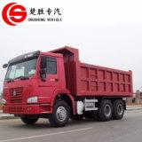 건축기계 12의 바퀴 40tons에 의하여 사용되는 HOWO 무거운 덤프 트럭