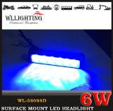 Indicatore luminoso d'avvertimento di superficie sottile eccellente della testa dello stroboscopio del supporto 6 LED