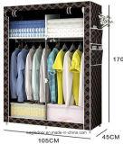 Einzelnes Gewebe-Segeltuch kleidet Speicherorganisator-Ausgangsgarderoben-Schrank-Regale (FW-02)