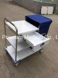 Karretjes die van het Afval van het ziekenhuis de Medische Karretje schoonmaken
