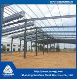 Marco de la estructura de acero para el edificio de acero con el material de construcción