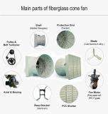 Shell de fibra de vidrio y de la hoja de aluminio fundido de Flujo Axial Ventilador de refrigeración