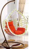 현대 옥외 정원 방석을%s 가진 거는 계란 그네 의자
