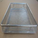 Cestino di memoria della rete metallica di sterilizzazione del metallo per la strumentazione di servizio ristoro