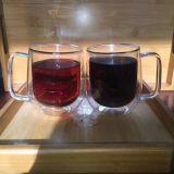 Copo de vidro da forma do abacaxi e da abóbora à água/bebida do armazenamento