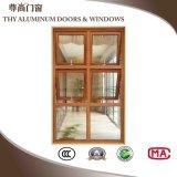 Aluminium schiebendes Windows mit zwei Panel-und Teakholz-Farbe