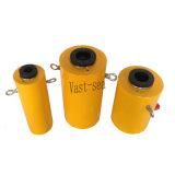 цилиндр гидровлического масла плунжера большой емкости 100t одиночный действующий полый