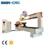 Máquina de gravura de Materiais do cilindro fresadora CNC de trabalho da madeira