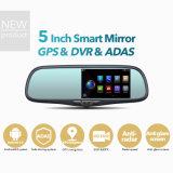 De androïde Rearview GPS van de Spiegel 5inch Apparaten WiFi van de Auto DVR van de Navigator