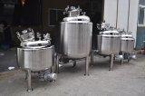 ステンレス鋼の混合タンクを熱する5000Lジャケットへの200L