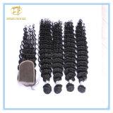 Qualitäts-unverarbeitete natürliche Farben-peruanisches Wasser-Wellen-Jungfrau-Haar mit vollem Häutchen Wfpww-001