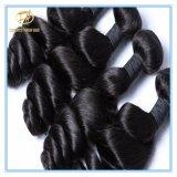 Hochwertiges unverarbeitetes peruanisches loses Wellen-Jungfrau-Haar mit vollem Häutchen Wfplw-001