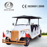 Coche eléctrico de lujo de la nueva vendimia para el área escénica con el vehículo de pasajeros de 8 personas
