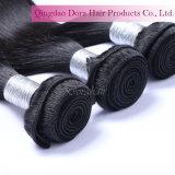China-Haar-Lieferanten-nähen brasilianischer Jungfrau-Haar-Einschlagfaden innen