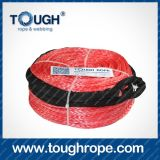Double Drum Winch Dyneema Synthetic 4X4 Winch Rope with Hook Thimble Sleeve Packed as Full Set