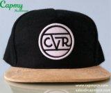 Fabricante negro del sombrero del casquillo del Snapback de las lanas