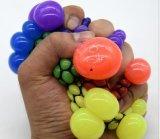Giocattolo Squishy dello sfiato di compressione di distensione della tensione dell'uva della maglia dell'uva della sfera della manopola di gomma molle della mano