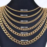 Золотистый цвет и втулку из нержавеющей стали цепочка мужская золотые ожерелья цепи