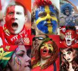 2018년 월드컵 독일 깃발은 운동 경기의 마스크 페인트 지팡이를 착색한다