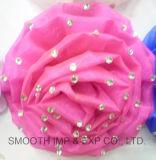 Горячая продажа декоративных искусственных цветов ткани шифон ручной работы для одежды