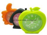 Mini horloge d'alarme de Tableau de Chambre de forme de maison de décoration de Snooze de silicones incassables créateurs de muet