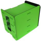 Supporti cremagliera di visualizzazione di plastica dei 3 della fila dei cassetti da tavolino robusti dell'archivio