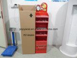 Индикация пола картона свободно стоящая косметическая с печатание Cmyk, Resuable гофрировала стойку индикации