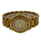 OEM OEM van de Fabriek het Nieuwe Houten Horloge van het Horloge van het Staal Houten Mechanische
