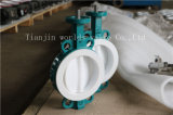 PTFE Fully Coated Butterfly Valve met Ce ISO Wras