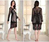 """Pijamas """"sexy"""" Sy10301802 do laço de Microfiber das mulheres por atacado do Nightwear da roupa de noite"""