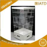 Présentoir acrylique en plastique clair fait sur commande de mémoire d'étage