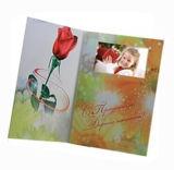 Folheto do cartão video da fábrica 5inch com revestimento lustroso, projeto personalizado