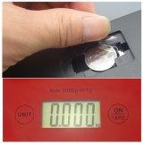 elektronische Küche 5kg, die wiegende Schuppe mit LCD-Bildschirmanzeige-Rot zählt