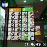 알루미늄 프레임 호리호리한 LED 가벼운 상자를 광고하는 대중음식점
