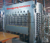 Machine van de Pers van de houtbewerking de Hete voor de Huid van de Deur