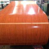 木製パターンによって設計されているPrepainted鋼鉄コイルの穀物PPGI