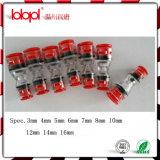 Connecteur droit de Microduct de HDPE, échantillon libre, coupleur micro d'extrémité de conduit de HDPE, conduit 14/10mm,