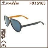 Vendite all'ingrosso degli occhiali da sole di legno polarizzati 400ce UV di nuova alta qualità di disegno